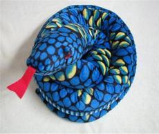 海樂園毛絨玩具大花紋藍色蟒蛇