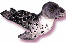 海乐园毛绒玩具黑色海豹