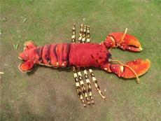 海乐园毛绒玩具红色大龙虾