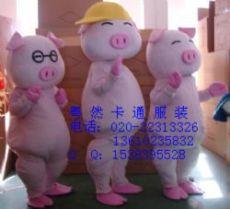 童话三只小猪麦兜卡通人偶表演服装