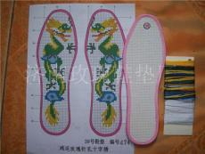 鸿运玫瑰十字绣鞋垫黑玫瑰系列十字绣针孔鞋垫