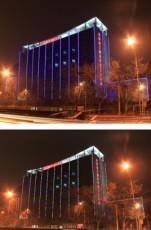 中國輕工業品進出口總公司辦公樓夜景照明工程
