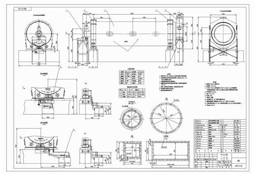 球磨机及其它类图纸_皓宇机械; 棒磨机图纸棒磨机结构图棒磨机轴瓦油