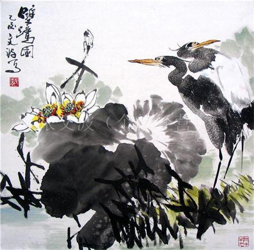 中国画 水墨花鸟画