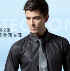 中式立領雙面壓光純棉休閑襯衫