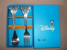 不锈钢礼品餐具 卡通餐具 米奇勺叉套装