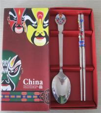 脸谱餐具 勺筷两件套