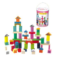 丹妮玩具 70片桶装积木