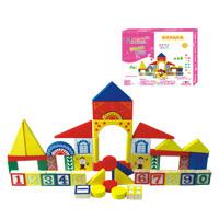 丹妮益智玩具数字形状积木