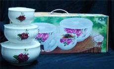母亲节礼品 鼎致礼品保鲜碗 东莞陶瓷保鲜碗三件套