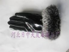 兔毛口女士pu手套