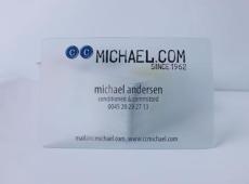 制卡 水晶卡 透明卡名片 透明卡制作 透明贵宾卡